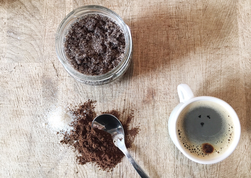 DIY coffee face and body scrub