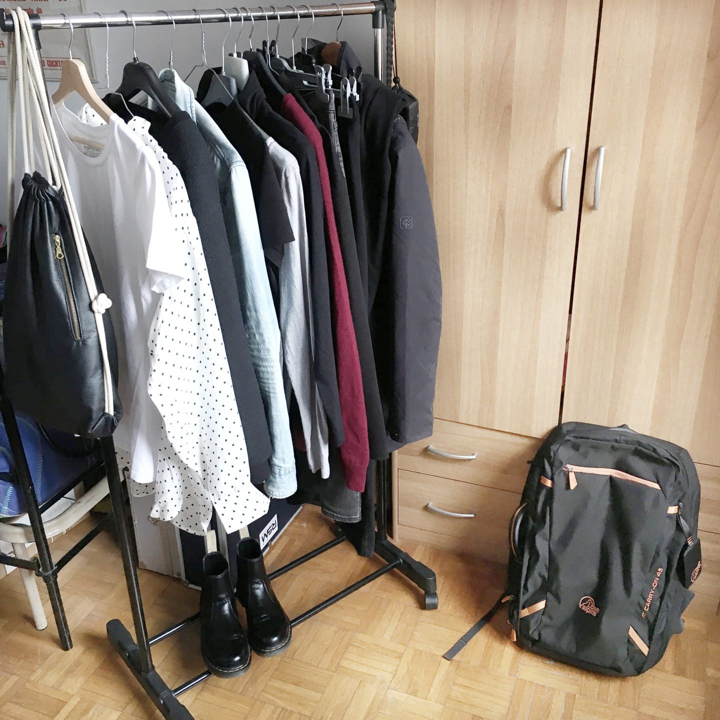 The Wardrobe Diaries #2 : minimalist winter packing